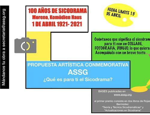 """PROPUESTA DE ARTE CONMEMORATIVO """"100 AÑOS DE SICODRAMA"""""""